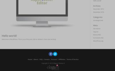 Centrar la Información, Texto e Iconos del Pie de Página