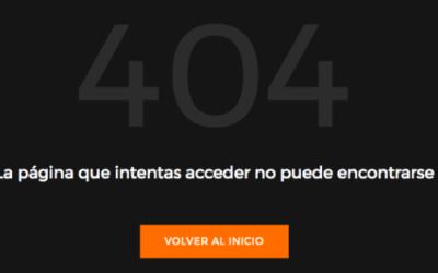 Personalizar el Diseño de la Página Error 404