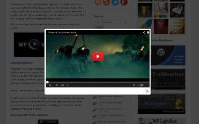 Mostrar Vídeos en Ventana de PopUp