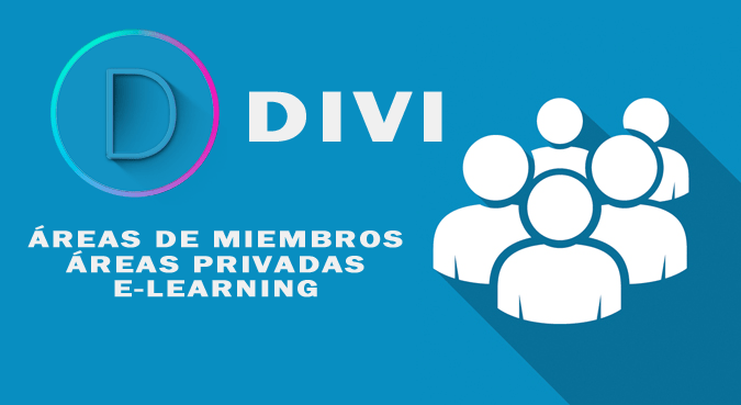 e learning y areas de miembros con Divi